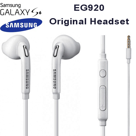 SAMSUNG Stereo Earphone with Flat Cable for Galaxy S6 هندزفری سامسونگ مدل s6 هندزفری سامسونگ مدل s6