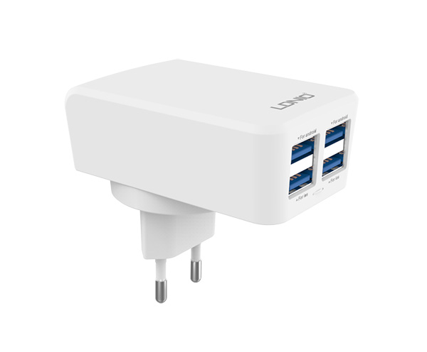 ldnio DL-AC90 4.2 amp USB Home/Travel Charger شارژر مسافرتی 4.2 آمپر الدینو DL-AC90 شارژر مسافرتی 4.2 آمپر الدینو DL-AC90