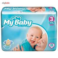 My Baby Size 3 Diaper Pack of 38 ()
