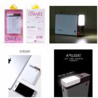Remax Proda Crave 12000mAh Powerbank with LED Light Rose Gold / Silver / Gold